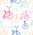 Seamless bicycles pattern Bikes Use for pattern vector image