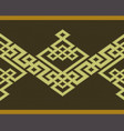 seamless knitted celtic pattern vector image