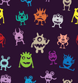 Seamless pattern of funny monsters vector image vector image
