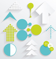 set business infographic elements vector image vector image
