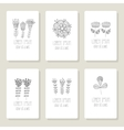 Set of cards invitation with hand drawn floral vector image vector image