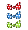 Set of Colorful Bows Isolated on White Background vector image vector image