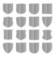 Silver shields set vector image vector image