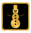 snowman button on white vector image vector image