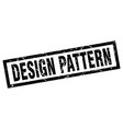 square grunge black design pattern stamp vector image vector image