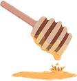Stick Dripping With Honey vector image