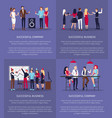 successful business and company set of posters vector image vector image