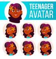 teen girl avatar set indian hindu asian vector image vector image