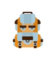 Travelling Blue And Orange Backpack Camping And vector image vector image
