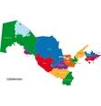 Uzbekistan map vector image vector image