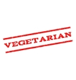 Vegetarian Watermark Stamp vector image vector image