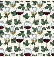 white and red wine grape vine leaves vector image vector image
