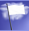 white blank flag with steel pole isolated on vector image vector image