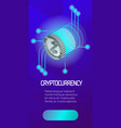 zcoin color isometric poster vector image vector image