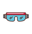 snowboard protective glasses cartoon vector image