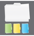 Colorful tabbed folder set vector image