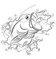 Drawing fishing vector image