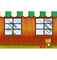 A pet outside the house vector image vector image