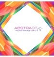 Abstract mottled frame vector image vector image