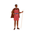 african woman aboriginal tribe holding stick vector image