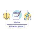 algebra courses lessons concept icon advanced