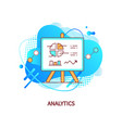analytics whiteboard with infocharts and info vector image