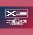 april is scottish - american heritage month vector image vector image