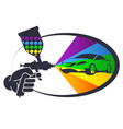 auto spray painting vector image vector image