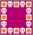 background Day of the Dead vector image vector image