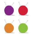 ball of yarn vector image
