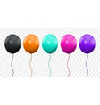 balloon 3d realistic isolated on transparent vector image