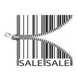 Barcode stylize as a zipper vector image vector image