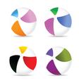 beach ball color vector image vector image