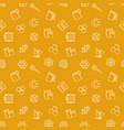beekeeping yellow seamless pattern vector image vector image