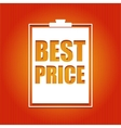 Best price poster vector image vector image