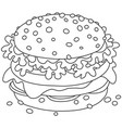 big tasty sandwich vector image