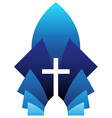 blue cross symbol vector image