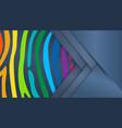 bright colourful horizontal abstract wallpaper vector image vector image