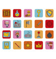 bundle adventure video game icons vector image