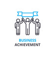 business achievement concept outline icon vector image