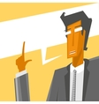 business man learns vector image vector image