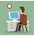 businessman avatar working icon vector image vector image