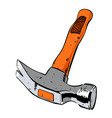 cartoon image of hammer vector image