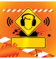 caution music vector image vector image