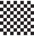 checkered black and white pattern vector image vector image
