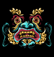 chinese mask vector image vector image