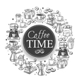 Coffee time banner vector image vector image