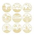 concepts linear icons or badges and design vector image vector image