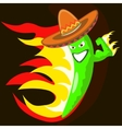 cool chili pepper vector image vector image