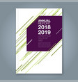 cover annual report 905 vector image